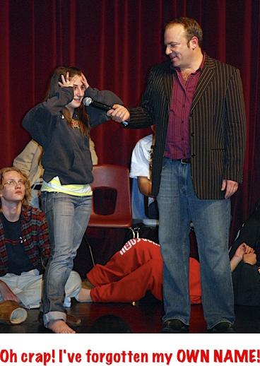 Hypnosis show comedy